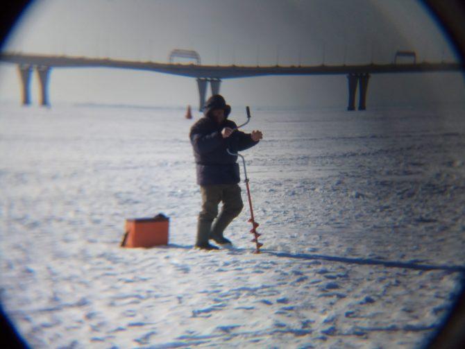 Wędkowanie na lodzie koło LenEkspo