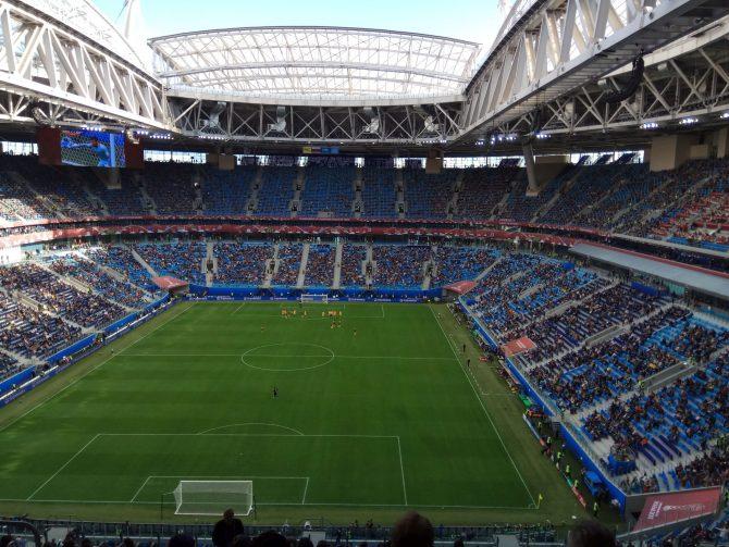 Mecz na Stadionie Krestowskim